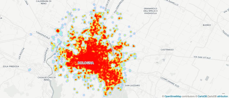 Dove si parla sui social network a Bologna