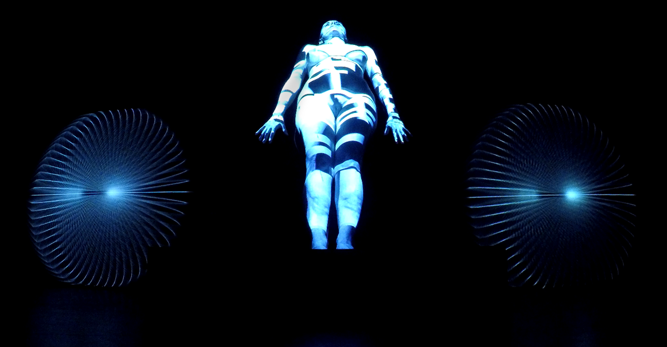BodyQuake, a still image from the performance