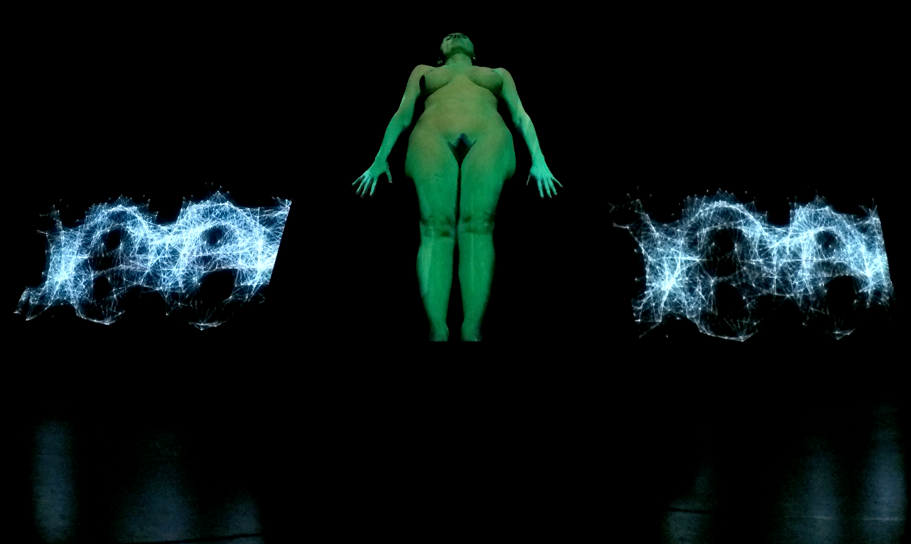 BodyQuake, a still image from the performance, 2