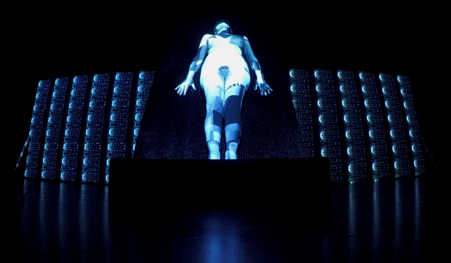 BodyQuake, a still image from the performance, 3