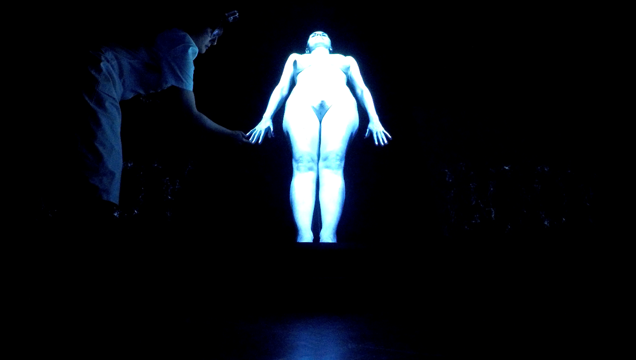 BodyQuake, a still image from the performance, 4