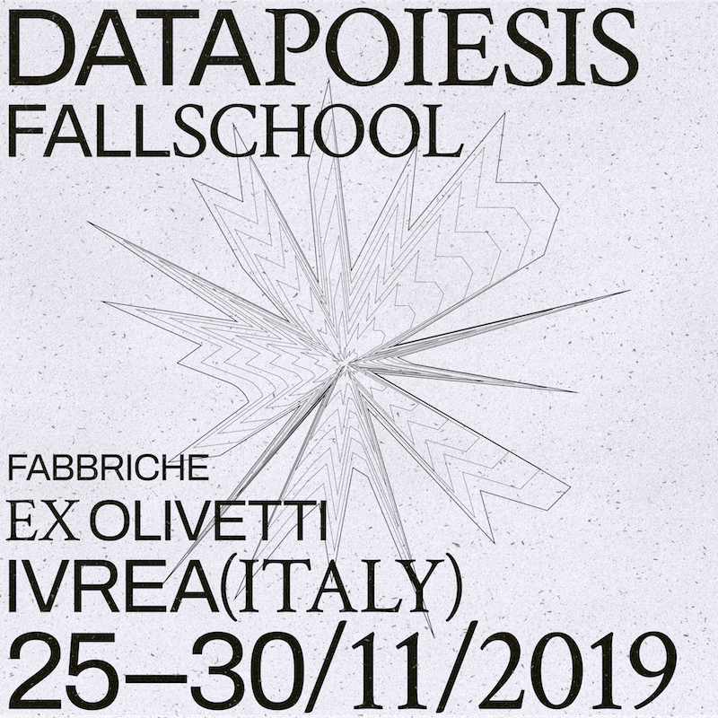 Datapoiesis Fall School - flyer