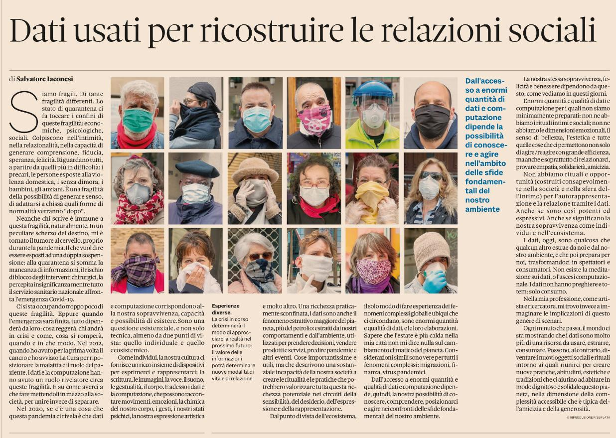 Article on Sole24Ore